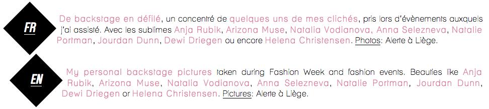 Backstage Fashion Week-Fashion Blogs