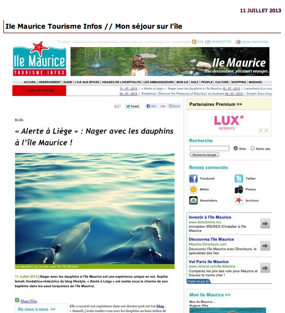 Blogs lifetyle dans la presse