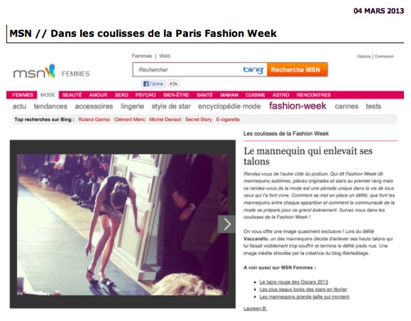 Dans les coulisses de la Paris Fashion Week