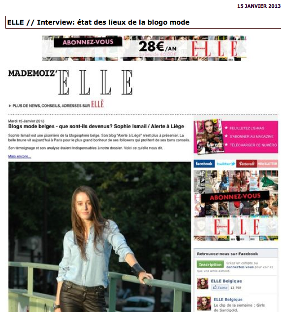 ELLE-Interview blogs mode