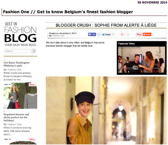 Fashion One-Get to know Belgium's finest fashion blogger