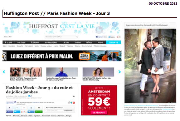 Huffington Post-Photo Garance Doré par Alerte à Liège