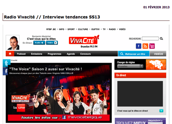 Interview Radio Vivacite-Alerte a Liege