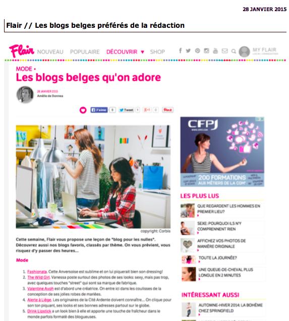 Les meilleurs blogs belges-Mode-Flair