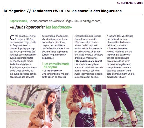 Les tendances par les blogueuses mode
