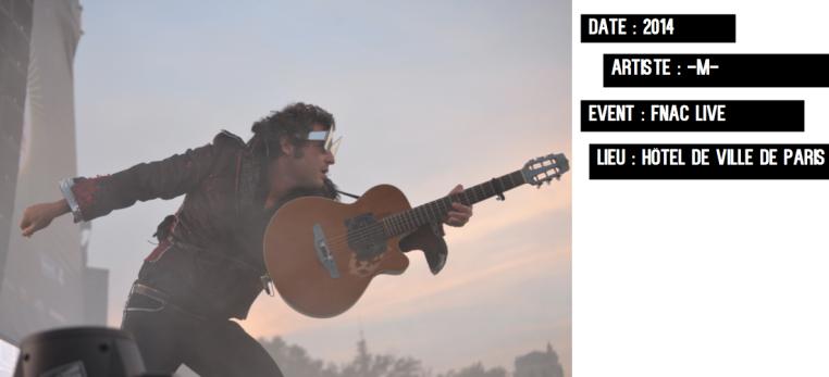 M-Matthieu Chedid-Fnac Live juillet 2014-Paris