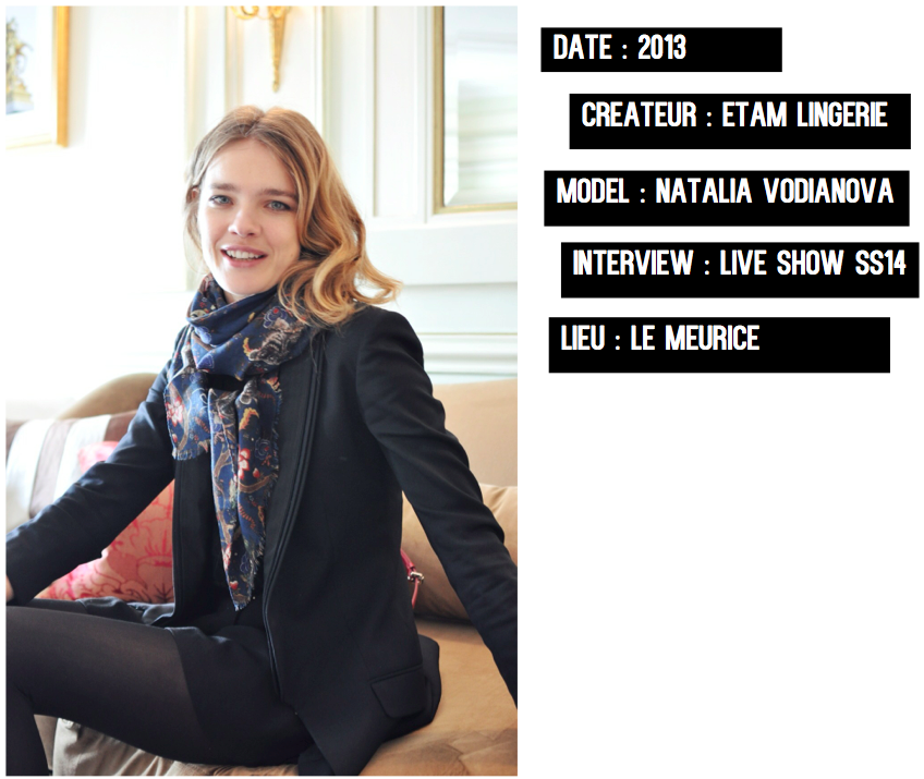 Natalia Vodianova-Interview Le Meurice-Etam Live Show