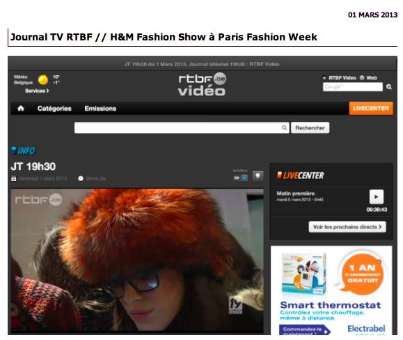 Reportage Journal TV-Blog Mode Fashion Week Paris