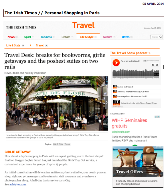 The Irish Times-Personal Shopping in Paris-Travel