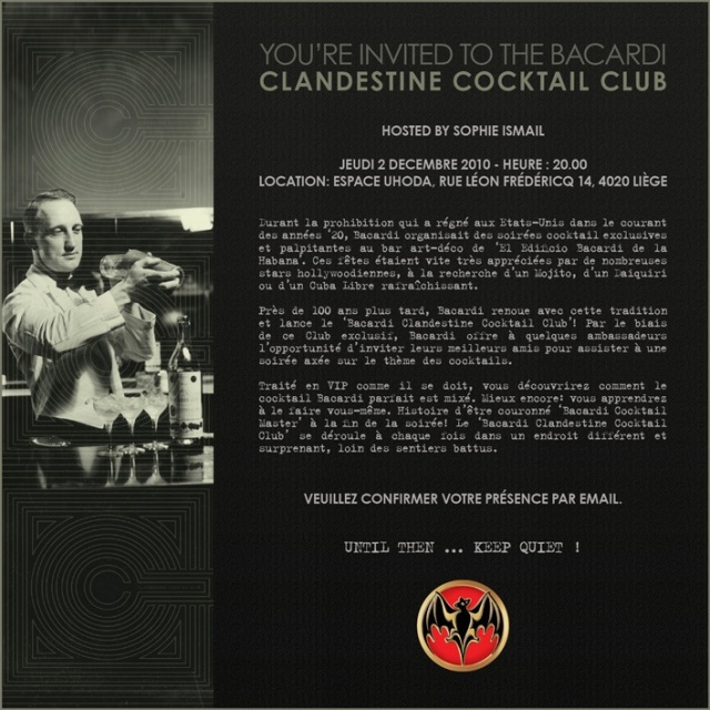 Bacardi Clandestine Cocktail Club