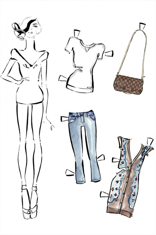 Louis Vuitton Paper Dolls-Fashion Blog