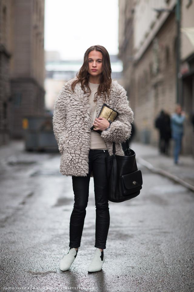 Alicia Vikander-Stockholm Fashion Week