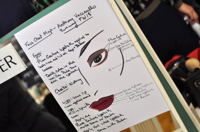 Anthony Vaccerello FW13-Tom Pecheux pour Estée Lauder Backstage 1
