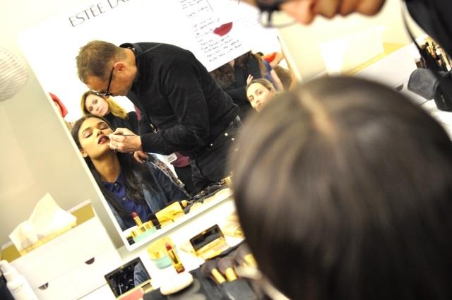 Anthony Vaccerello FW13-Tom Pecheux pour Estée Lauder Backstage 5