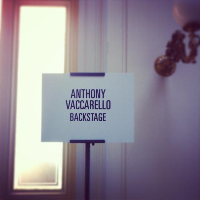 Anthony Vaccerello FW13-Tom Pecheux pour Estée Lauder Backstage
