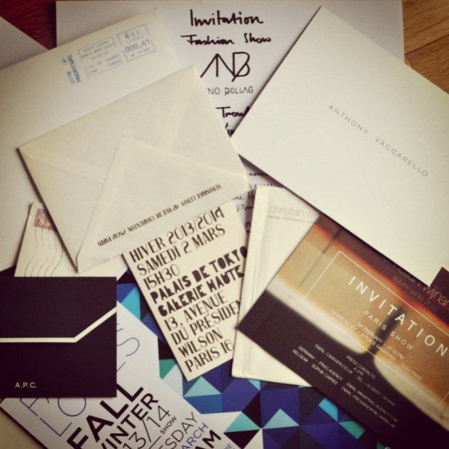 Paris Fashion Week-Invitations FW13-14