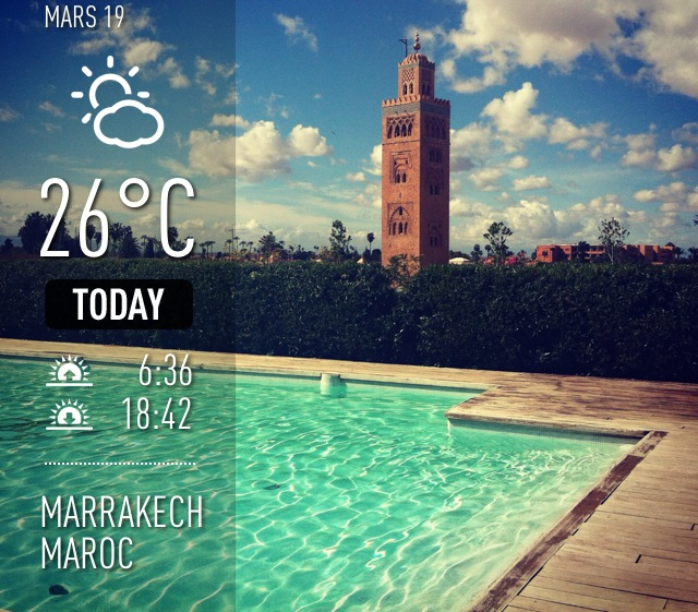 Météo Marrakech mars 2013-Koutoubia blog tourisme
