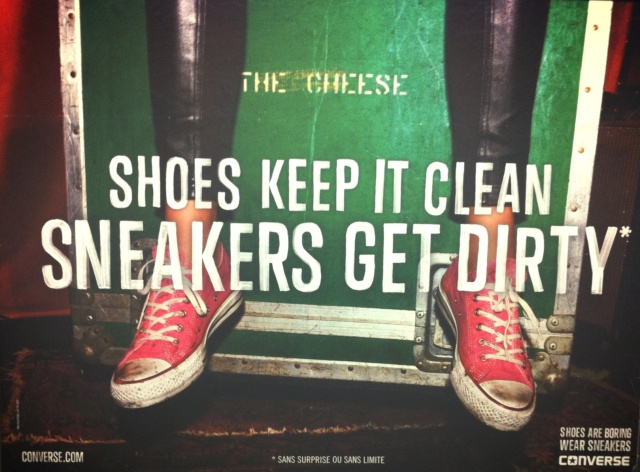 Shoes keep it clean Sneakers get dirty-Converse