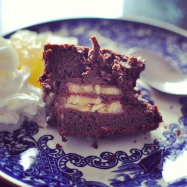 Recette gateau au chocolat-bananes