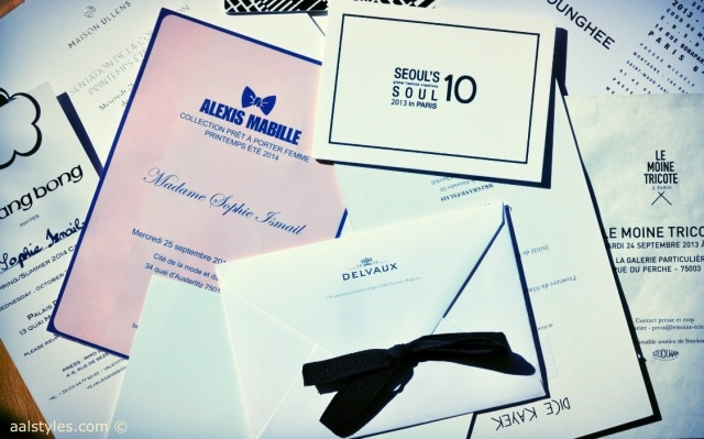 Paris Fashion Week SS14-Invitations blog mode