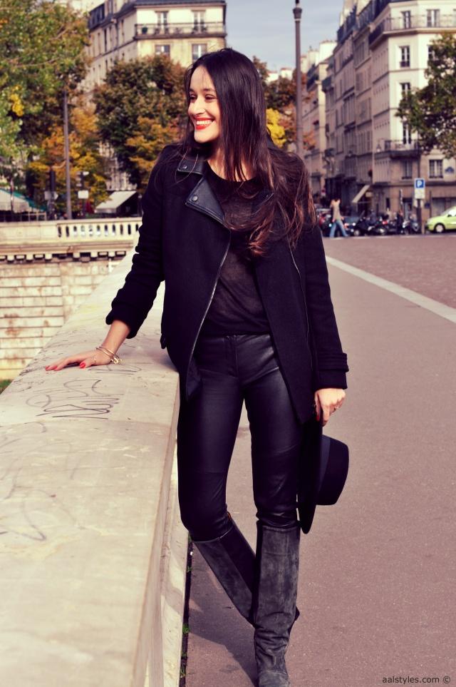 Jennyfer-Manteau col perfecto noir 1