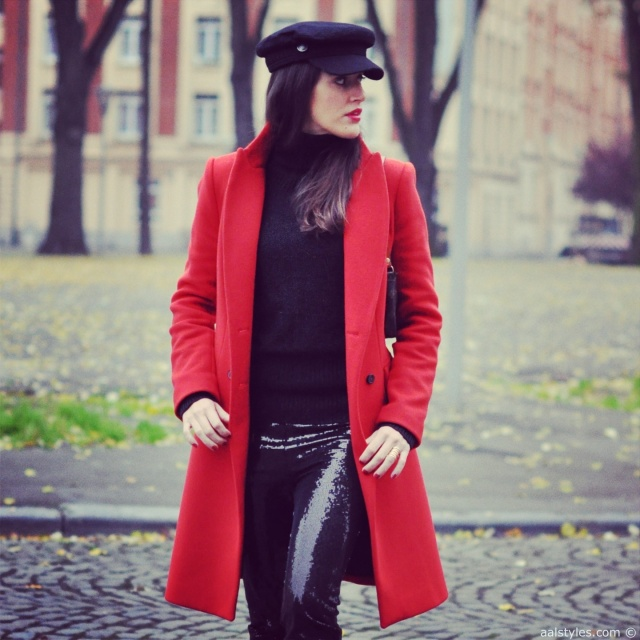 Red Coat-Fashion Blog 1