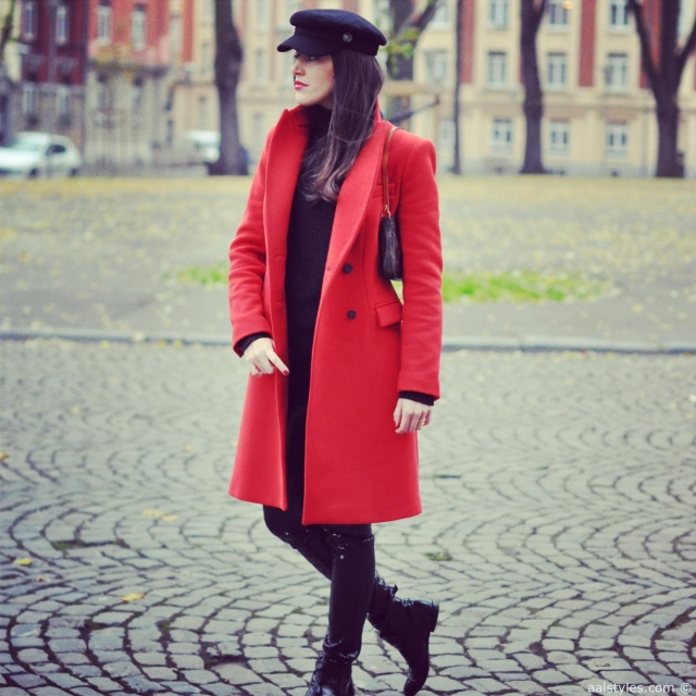 Red Coat-Fashion Blog 2
