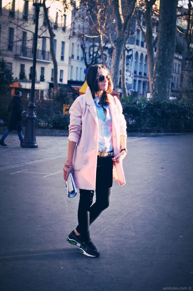 Manteau rose poudré-Blog Mode 1