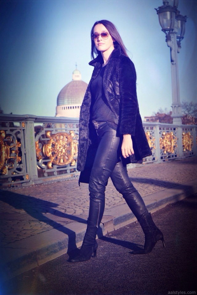 Slim Leather-Faux Fur-Fashion Blog