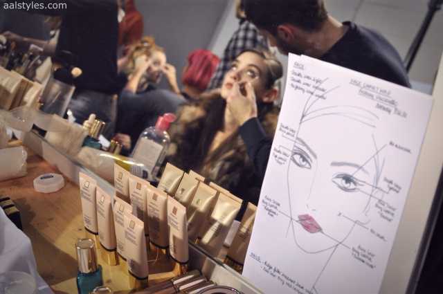 Vaccarello Fall-Winter 2014 2015-Backstage Estee Lauder 12