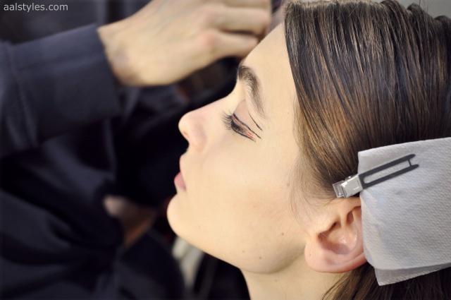 Vaccarello Fall-Winter 2014 2015-Backstage Estee Lauder 13