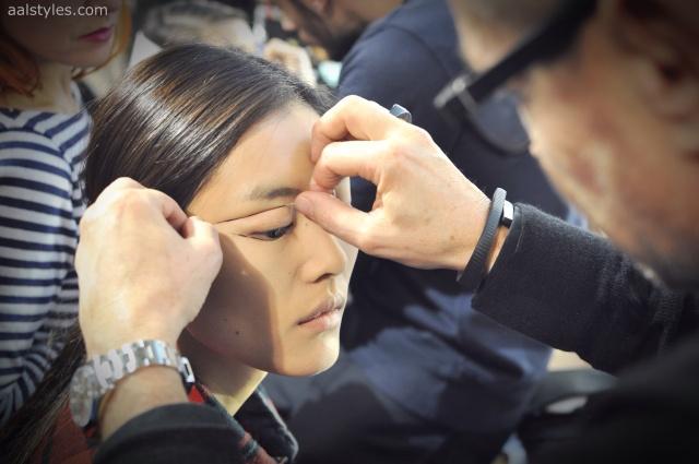 Vaccarello Fall-Winter 2014 2015-Backstage Estee Lauder 8