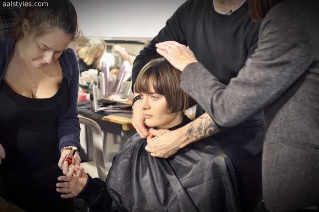 Vaccarello Fall-Winter 2014 2015-Backstage Estee Lauder 9