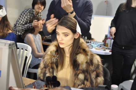 Vaccarello Fall-Winter 2014 2015-Backstage Estee Lauder