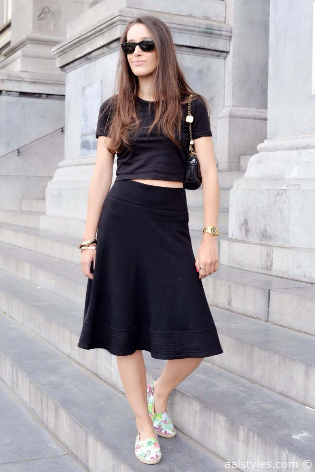 Crop top & midi skirt-4