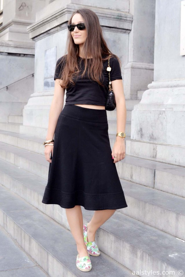 Crop top & midi skirt-6