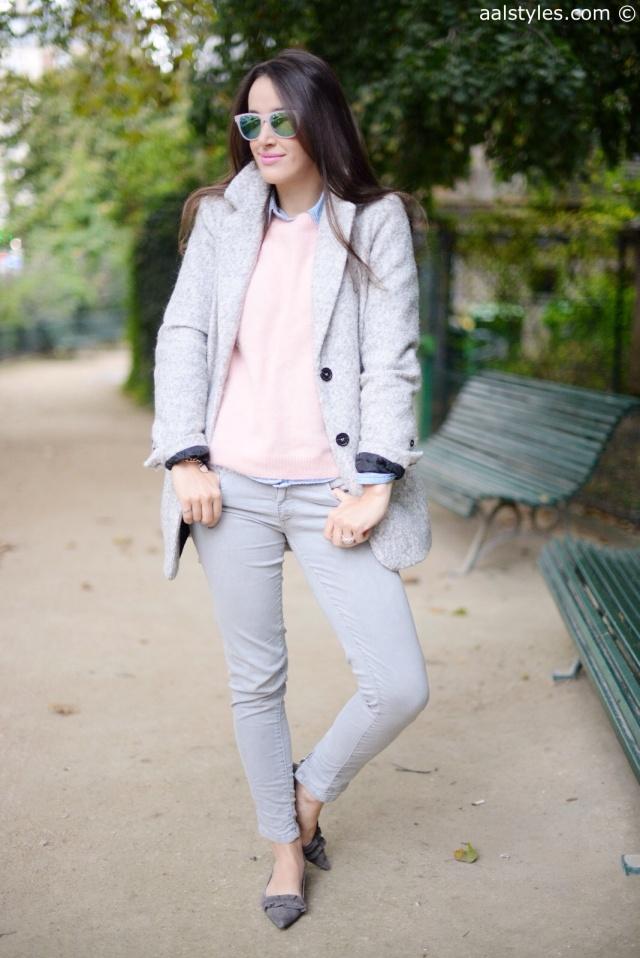 Manteau gris C&A-1