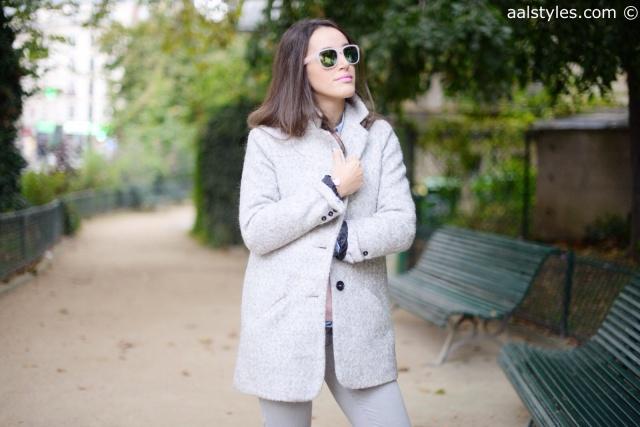 Manteau gris C&A-4