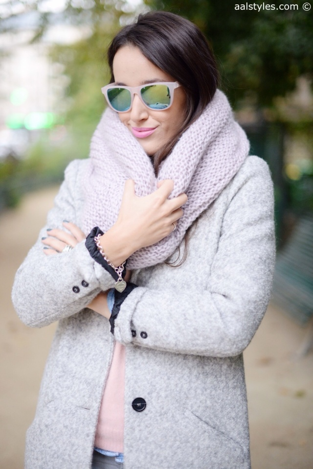 Manteau gris C&A-7