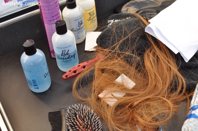 Maxime Simoëns-SS15-Backstage-.Thickening Hairspray