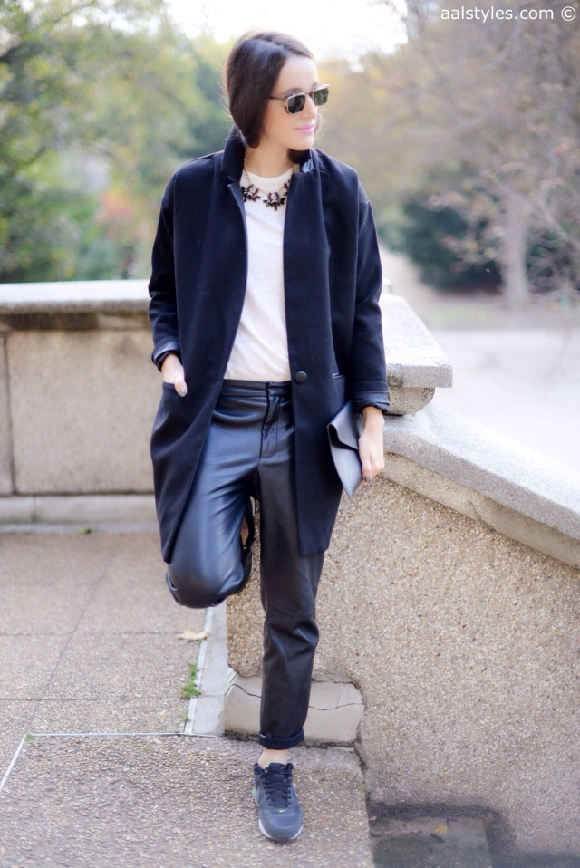 Boyfriend Coat-Black-2