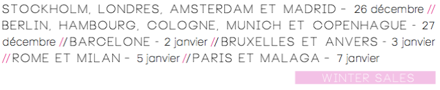 Soldes d'hiver-Dates 2014-15-Europe
