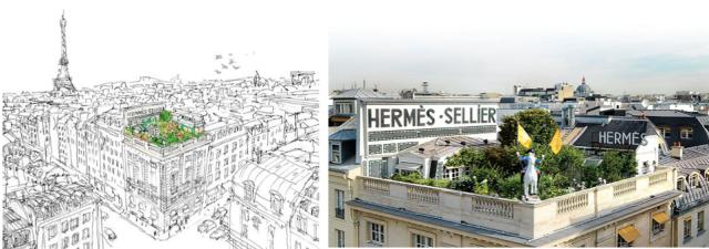 Hermès-Garden-Jardin-24 rue Faubourg Saint-Honoré
