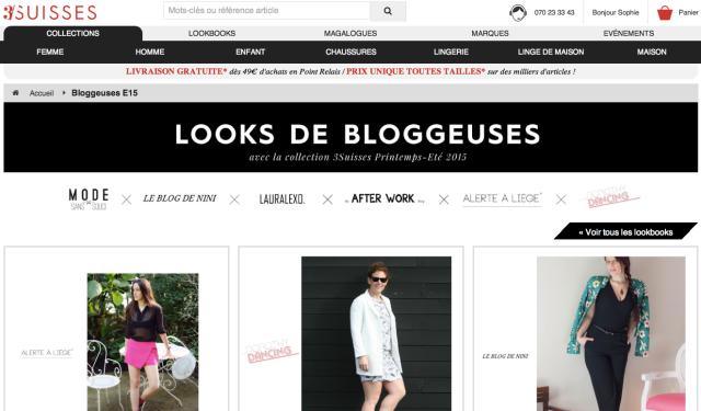 3Suisses collaborent avec les blogueuses mode belges-Printemps Eté 2015