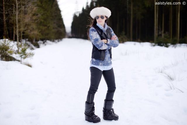 Après-ski Moon Boot noires vernies Queen Zalando-1