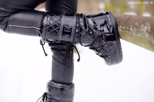 Après-ski Moon Boot noires vernies Queen Zalando-4