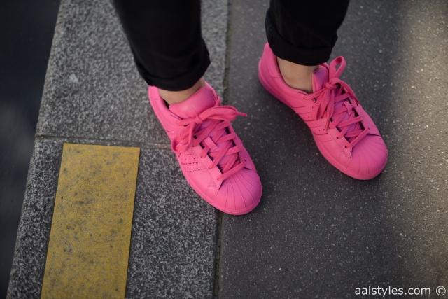 Pharrell x Adidas Superstar Supercolor-Semi Solar Pink-Fashion Blog-2