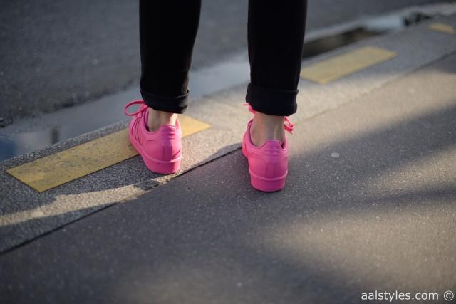 Pharrell x Adidas Superstar Supercolor-Semi Solar Pink-Fashion Blog-5