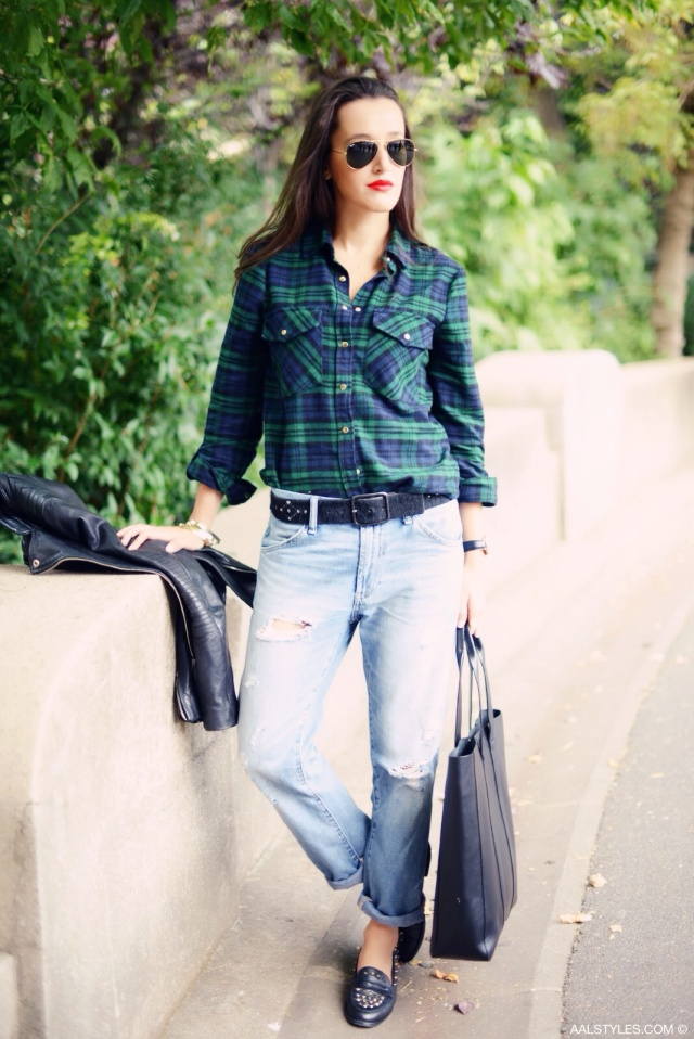 Chemise carreaux x boyfriend jeans-2