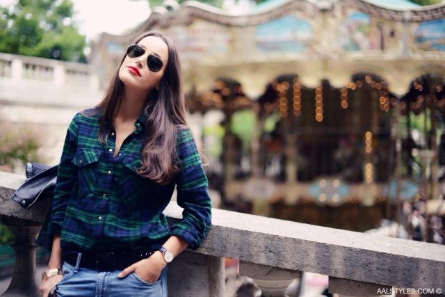 Chemise carreaux x boyfriend jeans-4